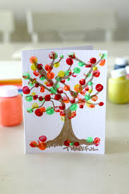 fingerpainting a fall tree fingerprint tree craft activities