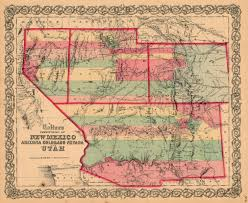 Map Of New Mexico And Colorado by Antique Prints Blog May 2015