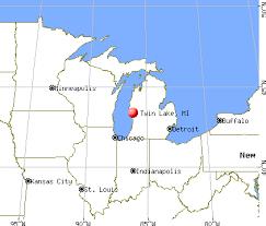 map of michigan lakes lake michigan mi 49457 profile population maps