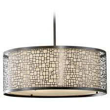 Drum Light Fixture by Modern Drum Pendant Light With Beige Cream Glass In Light