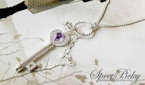 elegant heart necklace images Elegant heart key and crown necklace sp140380 spreepicky jpg