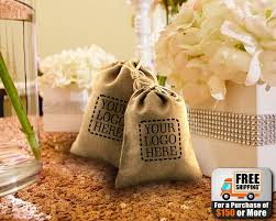 burlap favor bags custom printed burlap favor bags 3x5 or 5x6