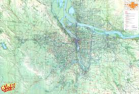 Portland Traffic Map by Review Of Bike There Your Map For Cycling In And Around Portland