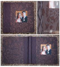 Leather Picture Album Finao Leather Album With Three Photo Cutouts On The Cover And A