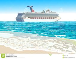 cruise ship vector illustration stock vector image 59317495