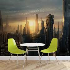 star wars city coruscant wall paper mural buy at abposters com price