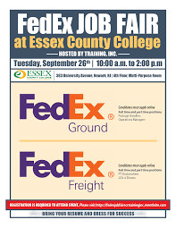 Resume For Cdl Driver Fedex Job Fair At Essex County College Training Inc Tickets