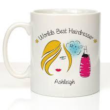 personalised worlds best hairdresser mug hairdresser birthday