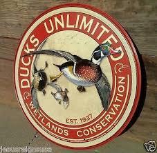 ducks unlimited tin sign wall bar garage decor classic