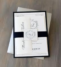 Monogram Wedding Invitations Navy Monogram Wedding Invitations Modern Wedding Invitations