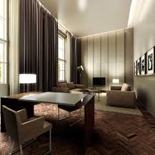 Living Room With Dark Brown Sofa by Living Room Living Room Wall Decorating With Brown White Wall