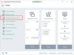 how to enable the trusted applications mode in kaspersky internet