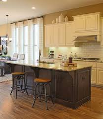backsplash kitchens with different color cabinets cabinets