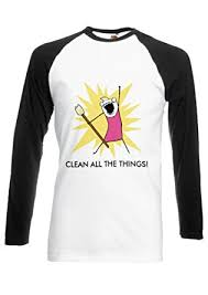 Clean All The Things Meme - clean all the things meme girl funny novelty black white men women