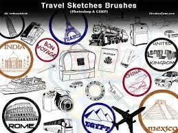 travel sketches photoshop brushes photoshop roadmap