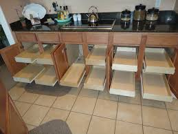 pull out drawers in kitchen cabinets traditional kitchen cabinets from how to install sliding shelves in