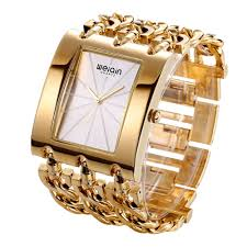watches with chain bracelet images Weiqin square dial rose gold bracelet watch for women free jpg