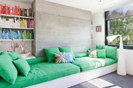 Bright Green Sofa Furniture Bright Home Ideas With Wide Windows Modern Bright Home