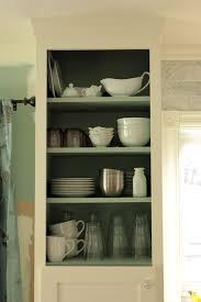 kitchen upper cabinets doorless left