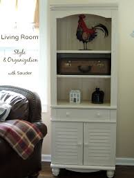 Sauder Harbor View Bookcase Living Room Style U0026 Organization With Sauder Cozy Country Living