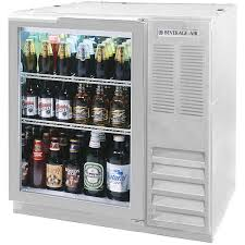 Glass Door Beverage Refrigerator For Home by Beverage Air Bb36g 1 S Led 36