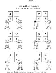 odd numbers worksheets