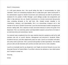 ideas of good recommendation letter sample for graduate for