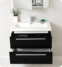 designer bathroom vanity fresca fvn8080bw medio 32 black modern bathroom vanity with