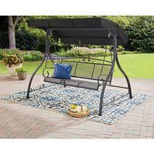 hammock bench ikayaa 3 seater garden metal outdoor swing chair hammock bench