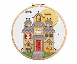 haunted house cross stitch pattern cross stitch patterns