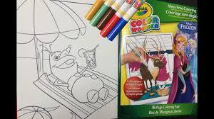 disney frozen olaf crayola color wonder coloring pages videos