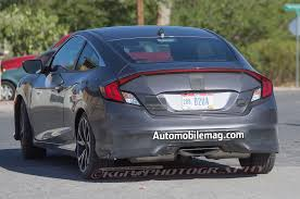 Is The Honda Civic Si Turbo Spied 2017 Honda Civic Si Coupe Tests Wearing Minimal Camo