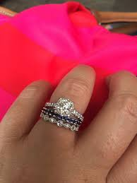 scalloped wedding band those with pave engagement rings show me your wedding band all