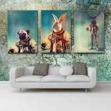 2017new 3 pieces animal astronaut ornament painting interior