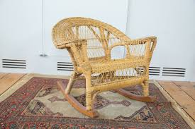 boho style kids wicker rocking chair old new house furniture 2488