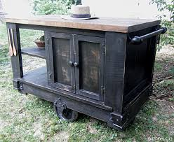 rustic kitchen islands and carts distressed black modern rustic kitchen island cart with walnut