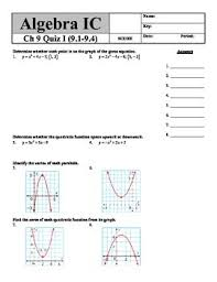 holt algebra ch 9 quiz i 9 1 9 4 quadratic equations