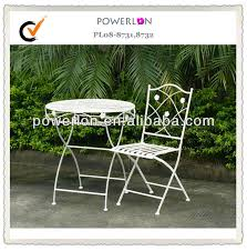 Ornate Metal Folding Bistro Chair Very Nice Antique White Classical Folding Indoor Home Decorative