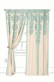 quarter color curtain coral from anthropologie