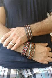 leather hand bracelet images Jerry tucker leather bracelet with sterling silver silver eagle jpg