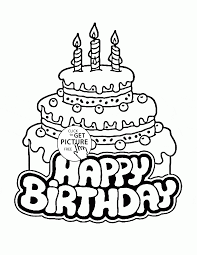 coloring cake coloring page