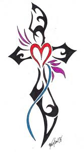 tribal cross rose tattoo tattoos design ideas clip art library