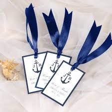Nautical Wedding Programs Nautical Anchor Wedding Favor Tag Thank You Labels Ewfr019 As Low