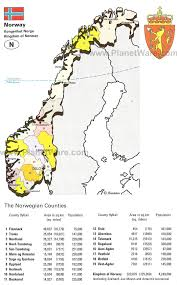 Arctic Circle Map Map Of Kingdom Of Norway Planetware