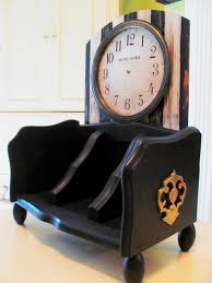 Diy Desk Organizer by Desk Organizer From A Breadbox Diy Makeover With Black And White