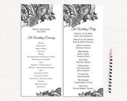 Traditional Wedding Program Traditional Program Etsy