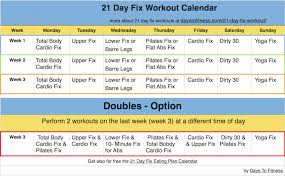21 day fix workout calendar calendar 2017 printable