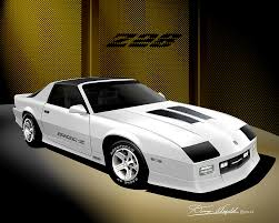 1992 camaro z28 1987 1992 chevrolet camaro automotive car print by danny