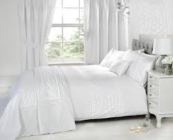 bedroom everdean white duvet cover queen matched with curtains
