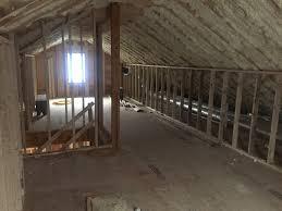 Spray Insulation For Basement Walls Open Cell Spray Foam On Roof Deck U0026 Vapor Retarding Primer